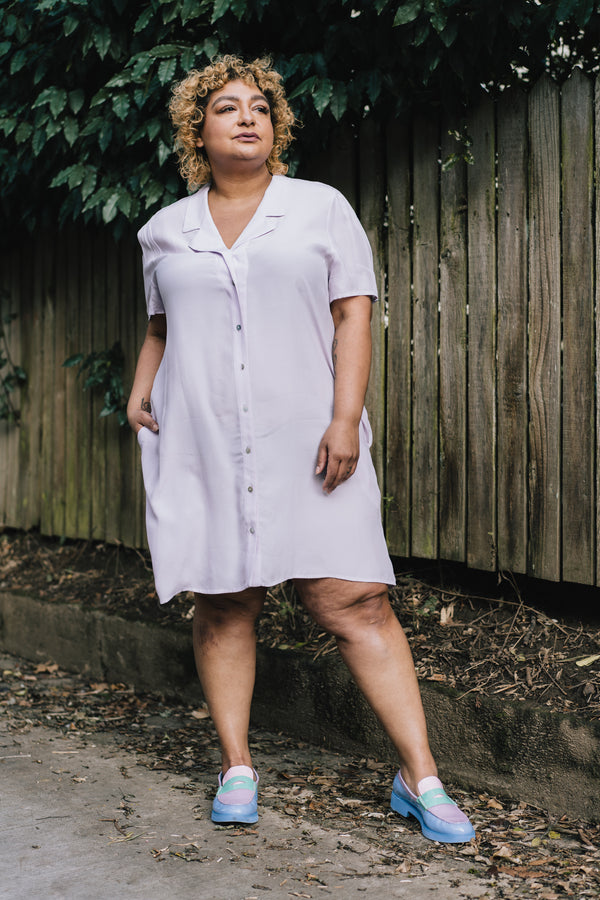 Gerty Dress in Lavender *FINAL SALE*