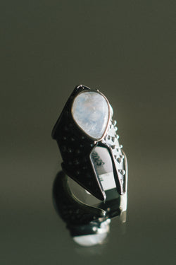 Cygnus Ring with Moonstone