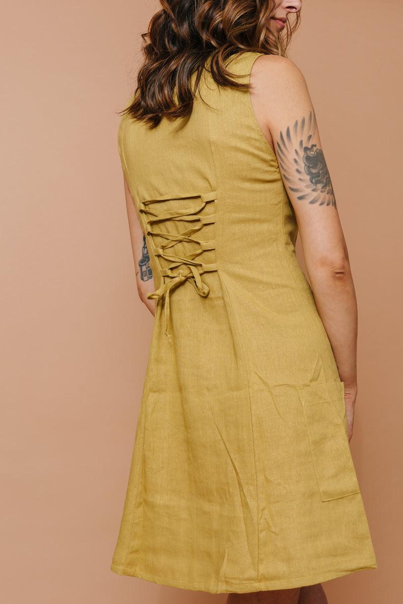 Loretta Dress in Marigold LAST ONE