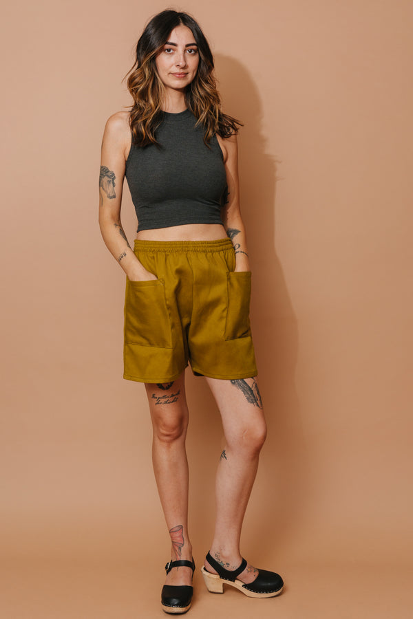 Turmeric Pocket Shorts