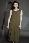 Olive Crepe Pocket Shift Dress