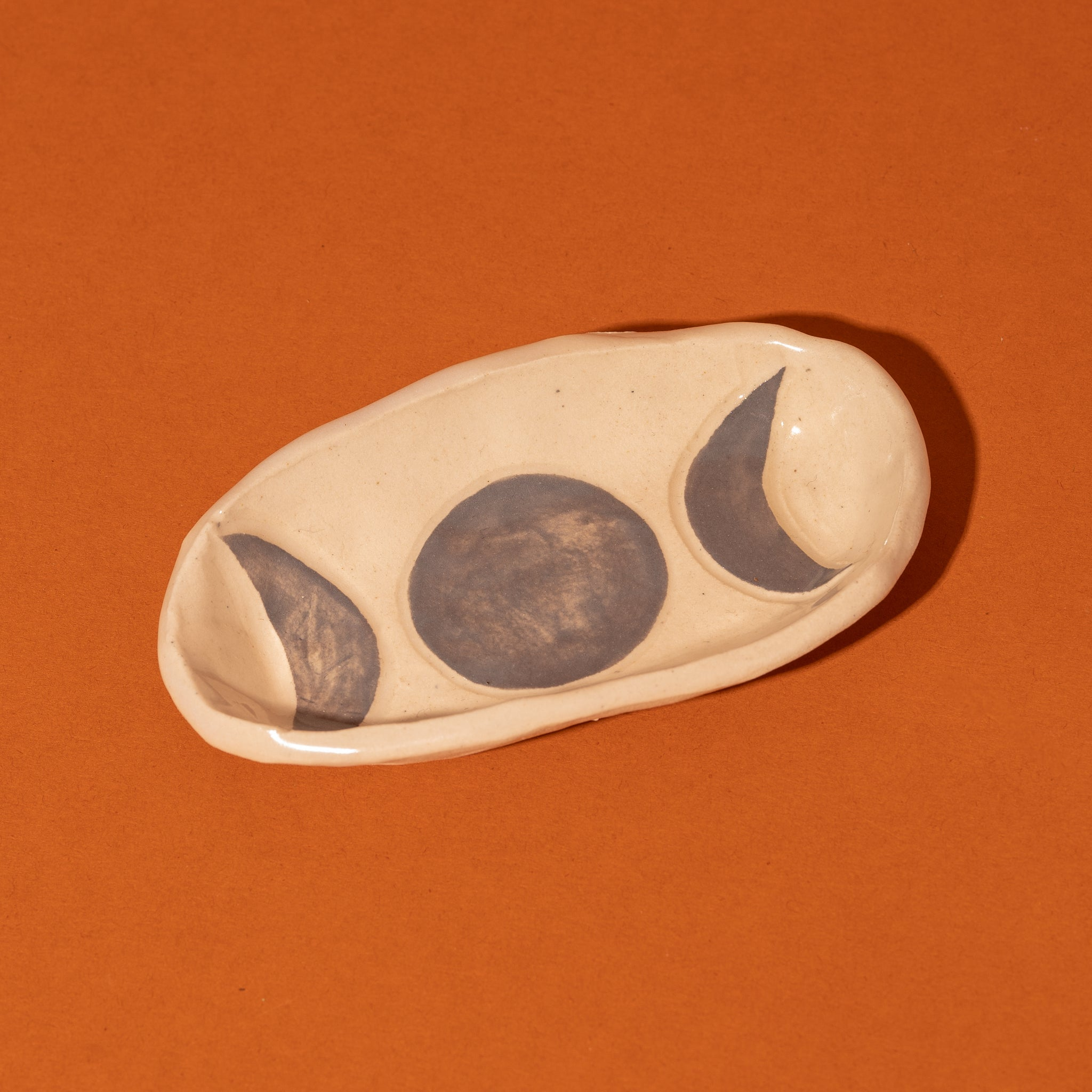 Grey Moon Phase Smudge Tray