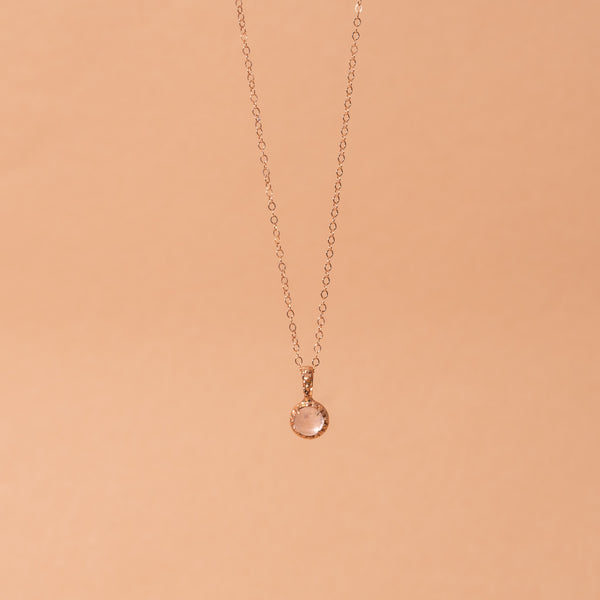 Matrix Halo Rose Quartz Necklace