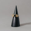 Brass Onyx Aria Ring
