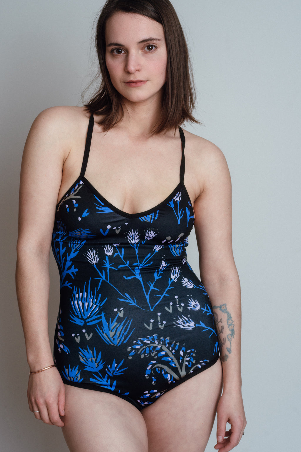 Our plus size swim wear is here for all of your bathing suit needs. Offered in extended sizes and beautiful patterns, made by hand in North America. Hand printed one pieces and two pieces with adjustable straps and eco friendly fabric.