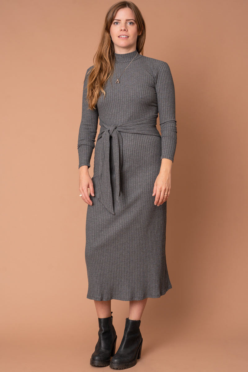 The Joan Dress in Grey
