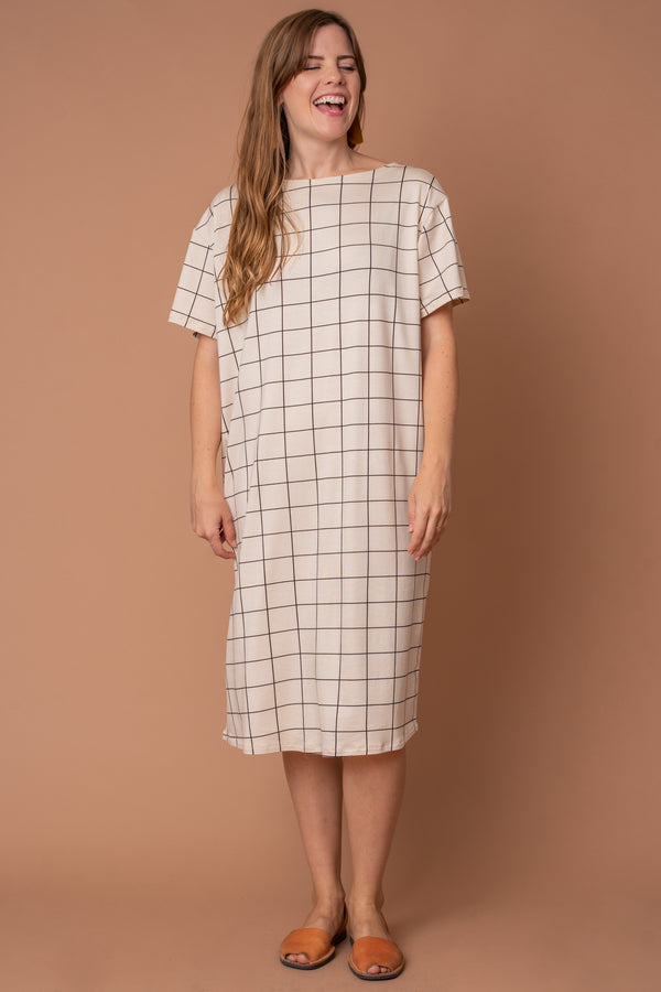 Grid T-shirt Dress