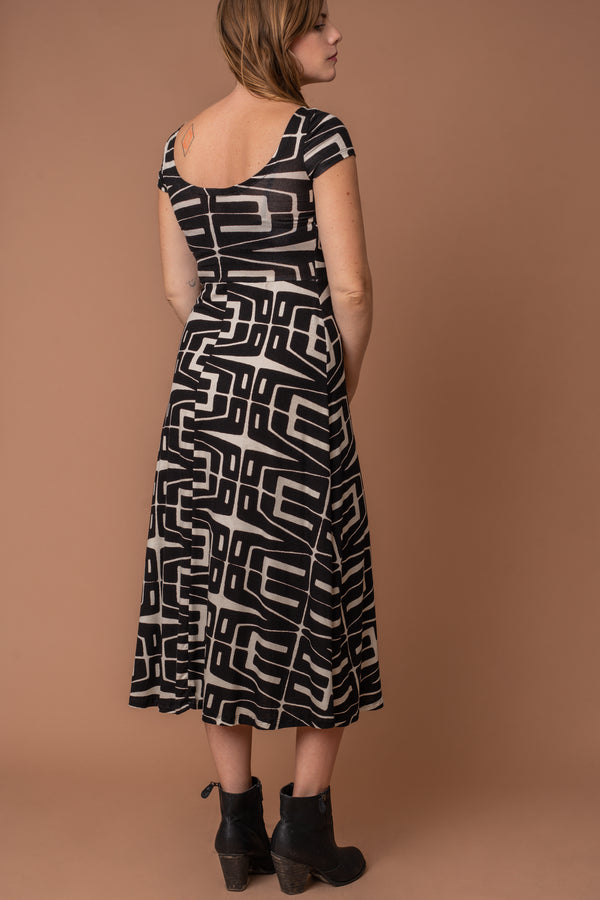Modern Symmetry T-Length Dress