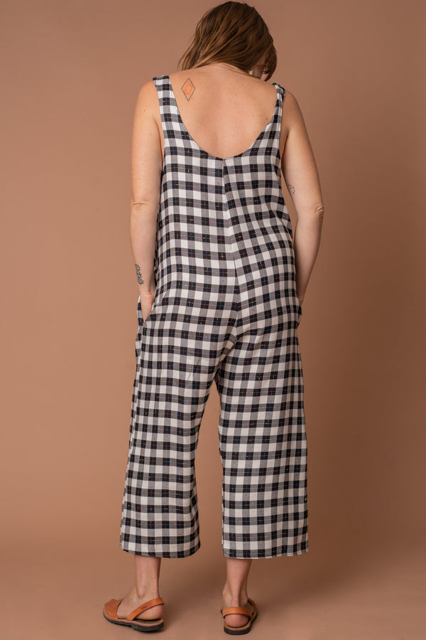 Flecked Gingham Jumpsuit