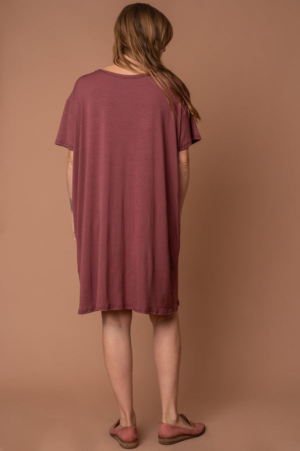 Dusty Rose Modal T-Shirt Dress
