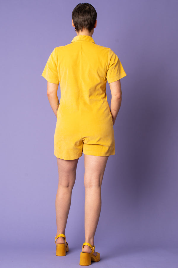Union Shortall Jumper in Yellow Corduroy