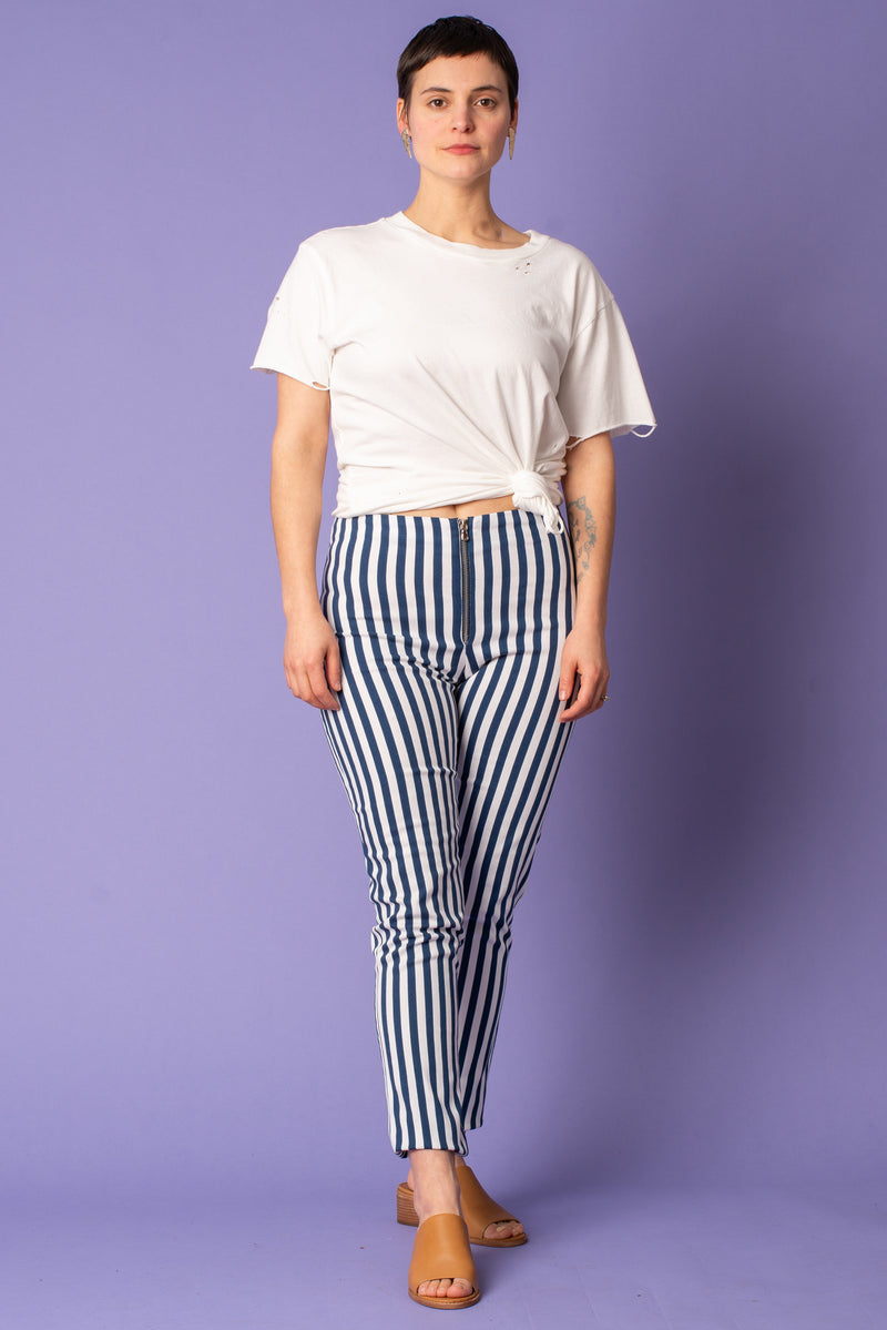 Navy Stripe Pant