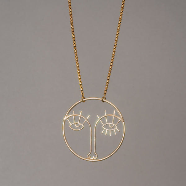 Face Outline Necklace