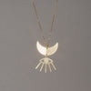 Moon and Eyelash Necklace