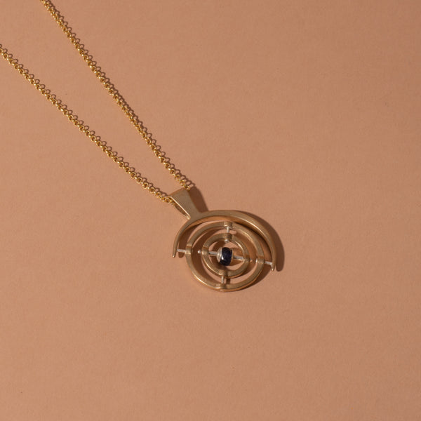 3 Axis Bronze Gyroscope Necklace