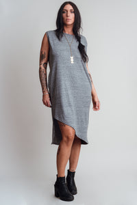 Noctex Sliver Tank Dress- Heather