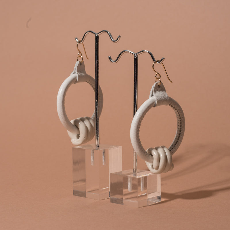 Loop Earrings with Clay Coils