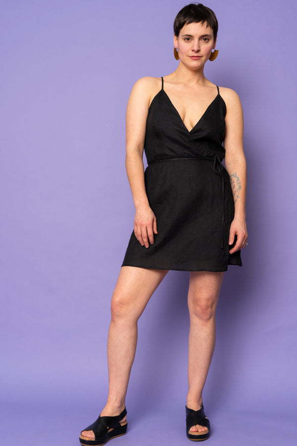 Black Poppy Dress