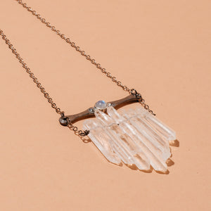 Multicrystal Necklace with Moonstone