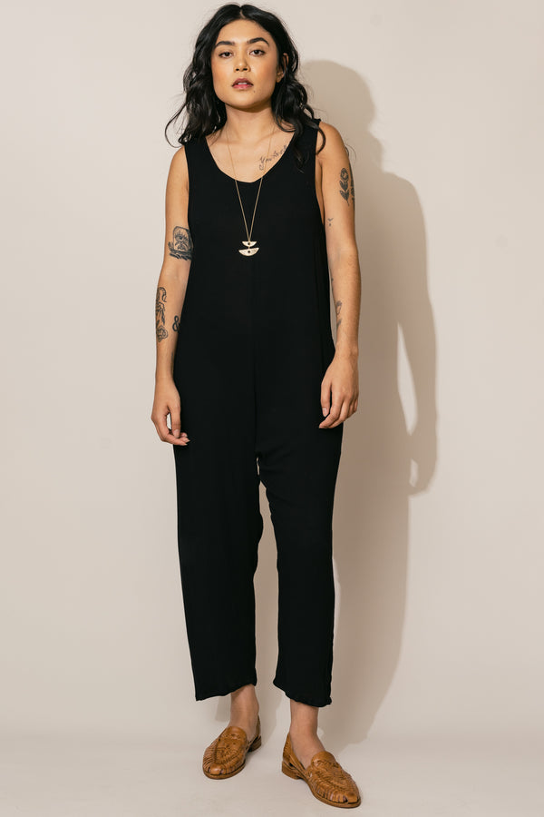 Black Houseline Jumpsuit