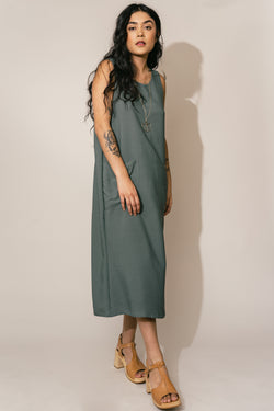 Basil Pocket Shift Dress