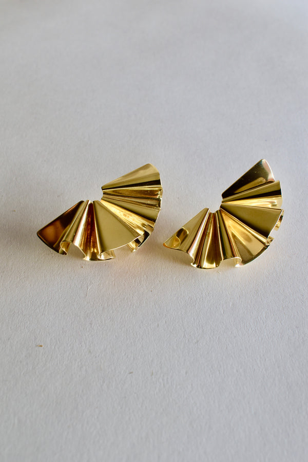 Faldi Earrings in Brass