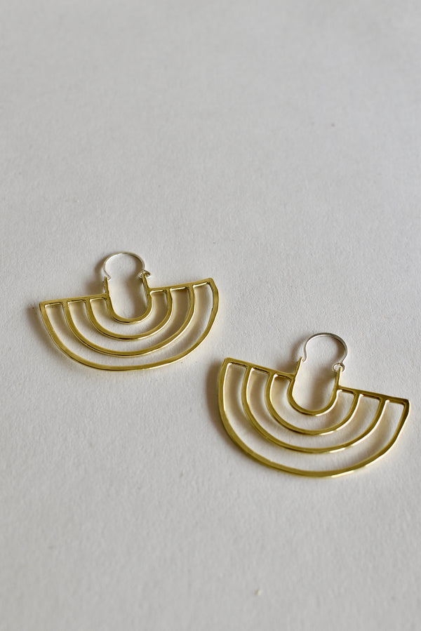 Porta Earrings in Brass