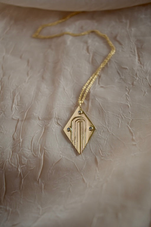Art Deco Charm Necklace