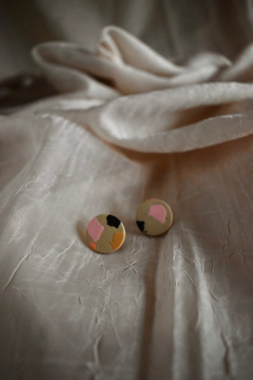 Small Multi Color Stud Earrings