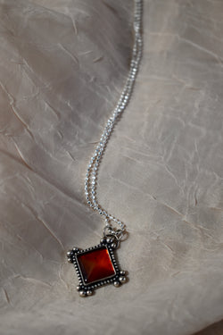 Baltic Amber Pyramid Necklace