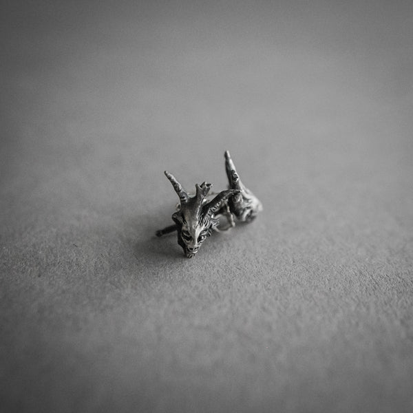 Theeth Stud Earrings - Devil Head, Jewelry, Theeth - Altar PDX