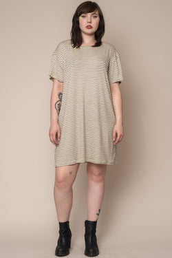 Ecru-Stripe-T-Shirt-Dress