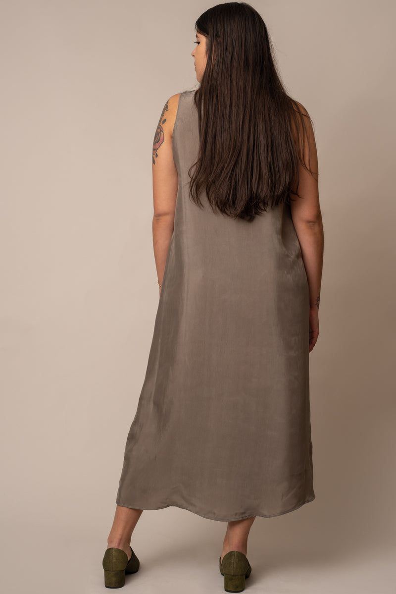 Ember-Grey-silky-Shift-Dress