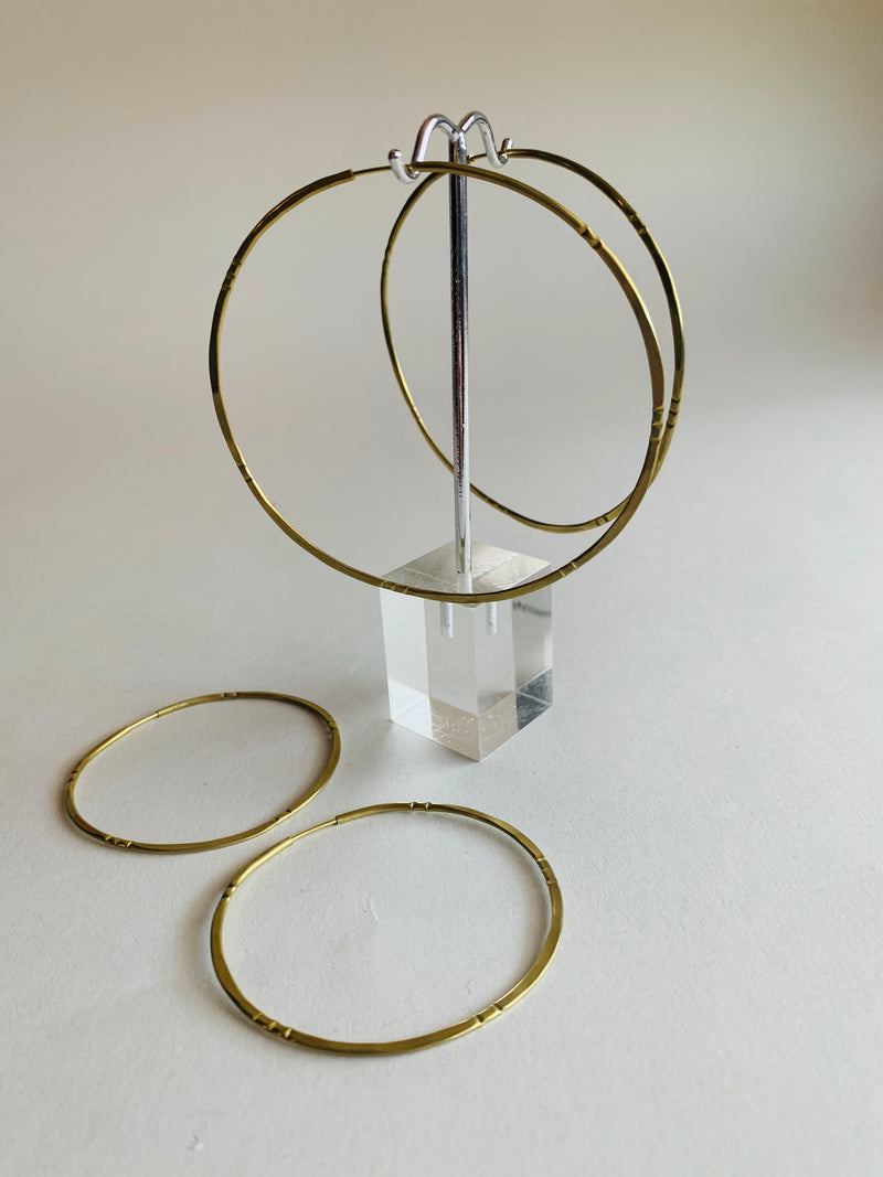 Bamboo Solar Hoops Earrings