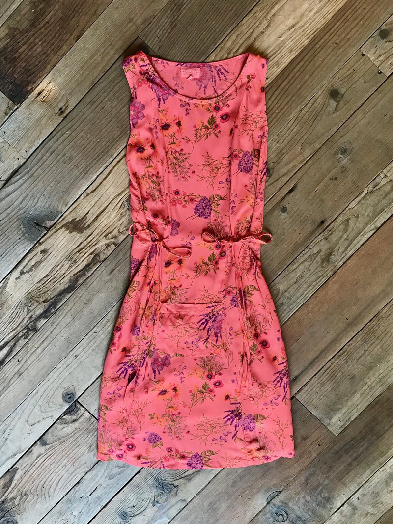 Tia Dress in Coral Floral
