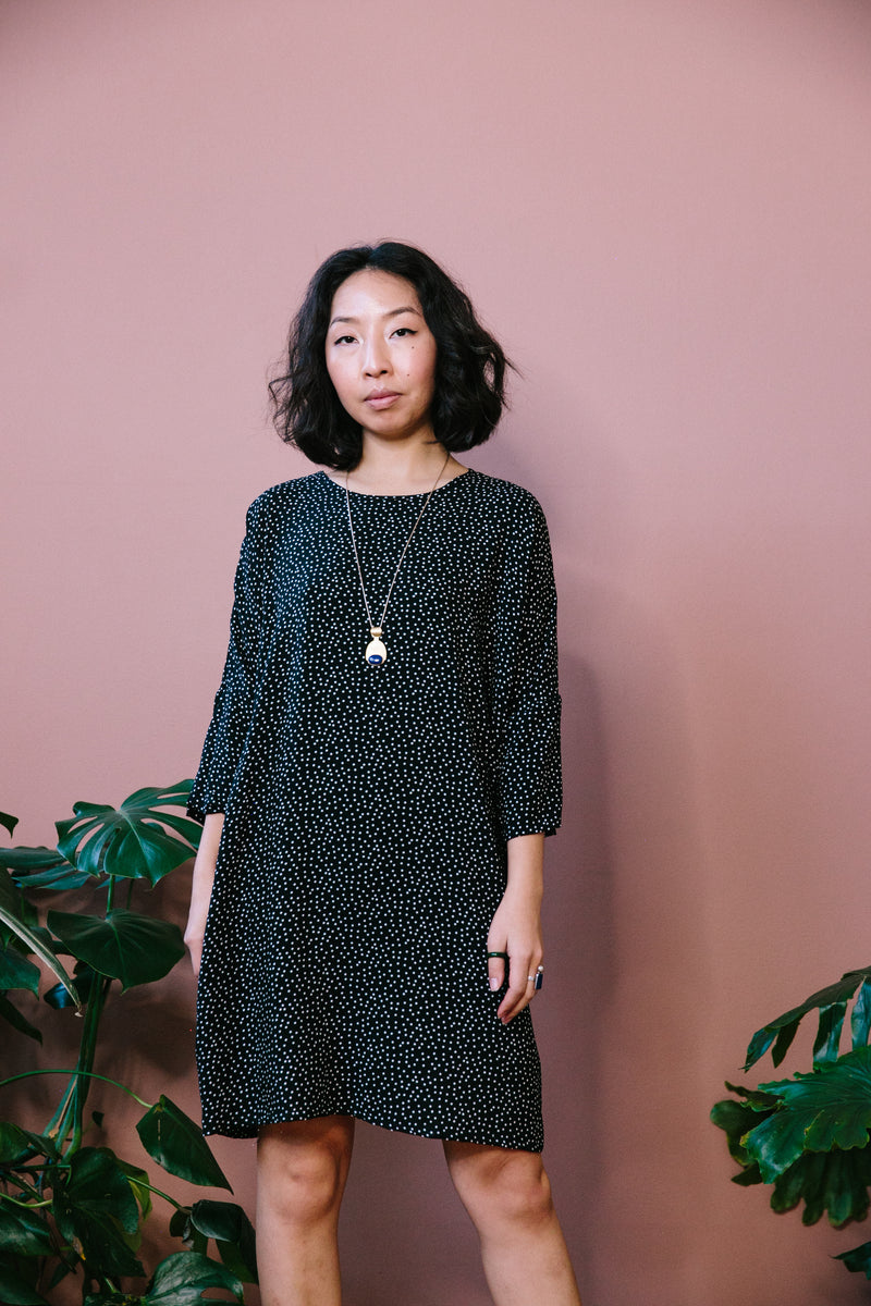 Polka Dot Batwing Dress