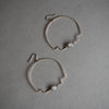 Step Hoop Earrings with Moonstone