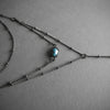 Layered Labradorite Lariat Necklace, Jewelry, Iron Oxide, Altar PDX - Altar PDX