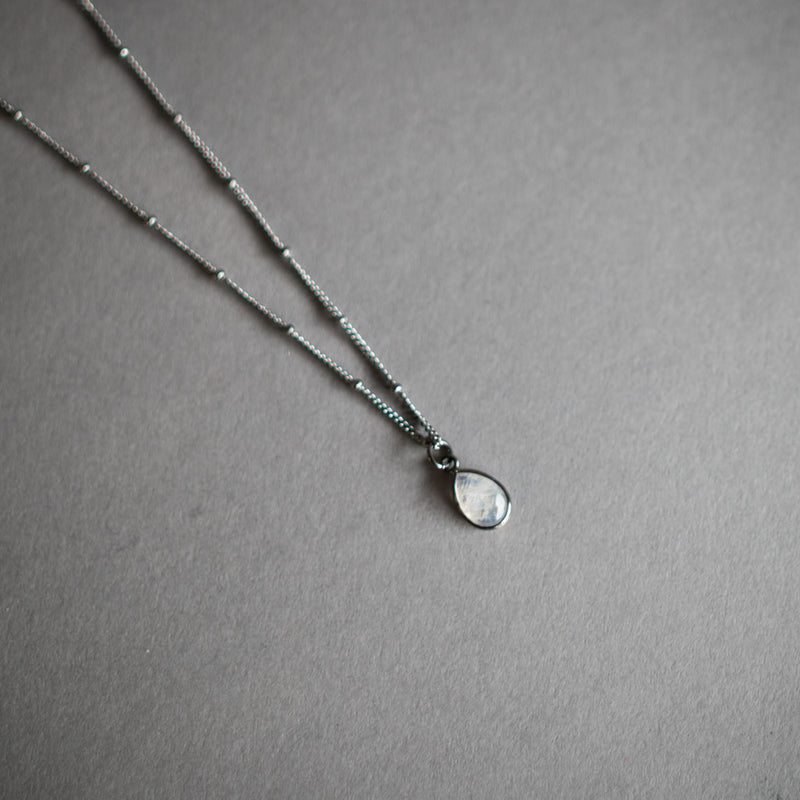 Moonstone Teardrop Necklace