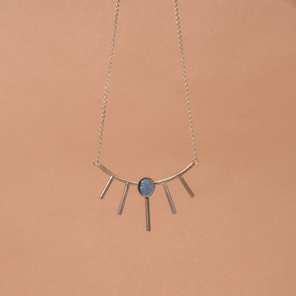 Large Sunray Necklace - Bronze or Silver