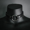 Black Leather Chokers, Jewelry, MKO, Altar PDX - Altar PDX