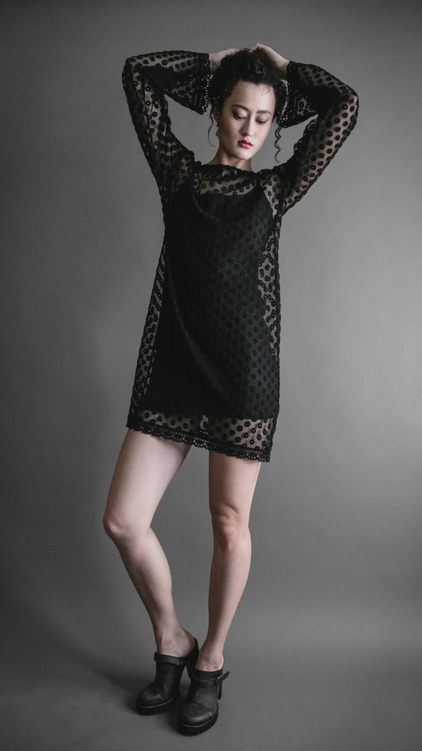 Michelle Lesniak - Dotted Lace Mini Dress, Apparel, Michelle Lesniak - Altar PDX
