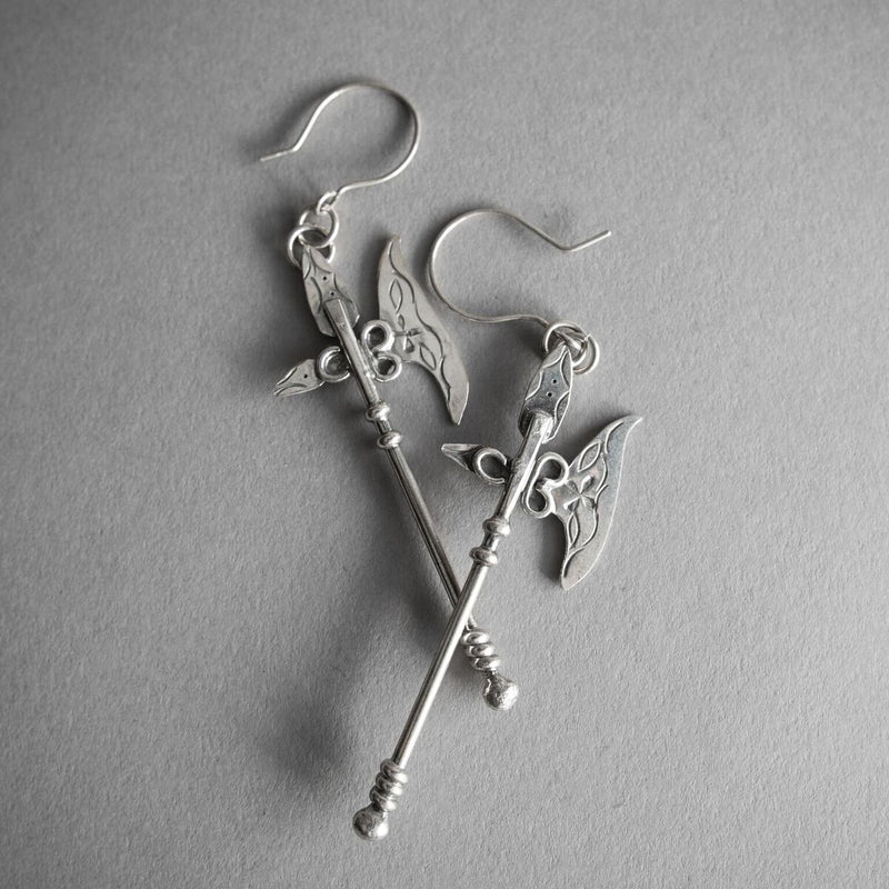 Battle Axe Earrings, Jewelry, Morgaine Faye - Altar PDX