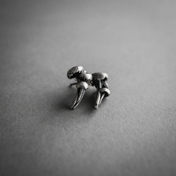 Theeth Stud Earrings - Mushrooms