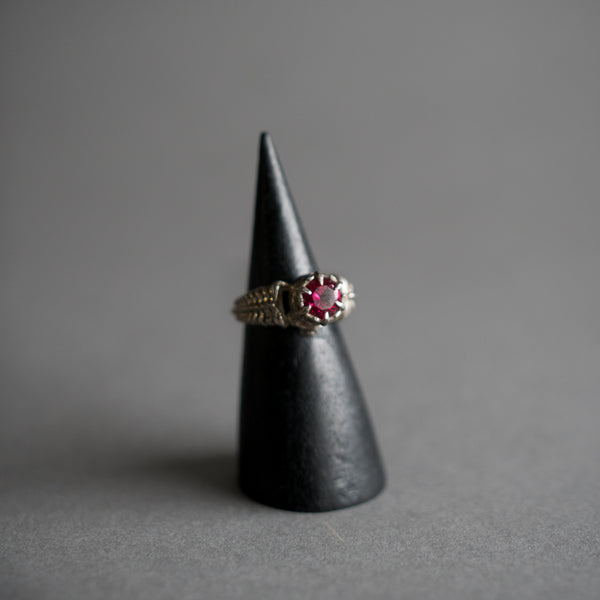 Silver Arcana II Ring - Synthetic Ruby