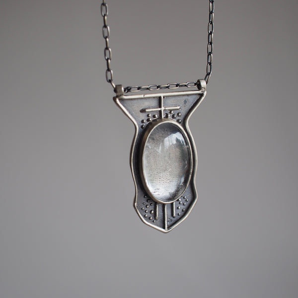 Cassiopea Pendant Necklace with Quartz