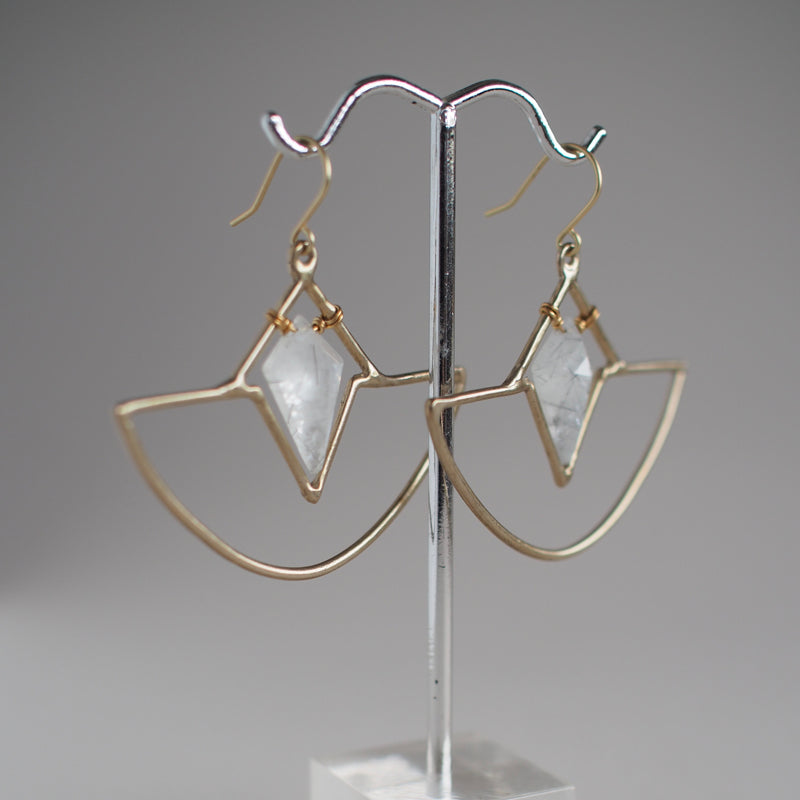 Crystal Amulet Earrings