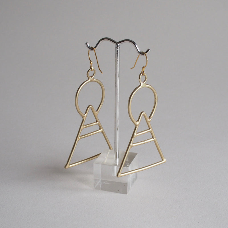 Geometric Bronze Earrings