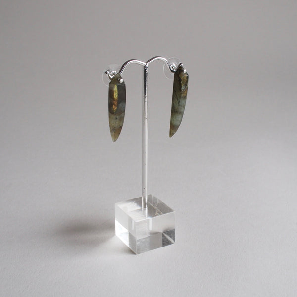 Labradorite Spear Earrings