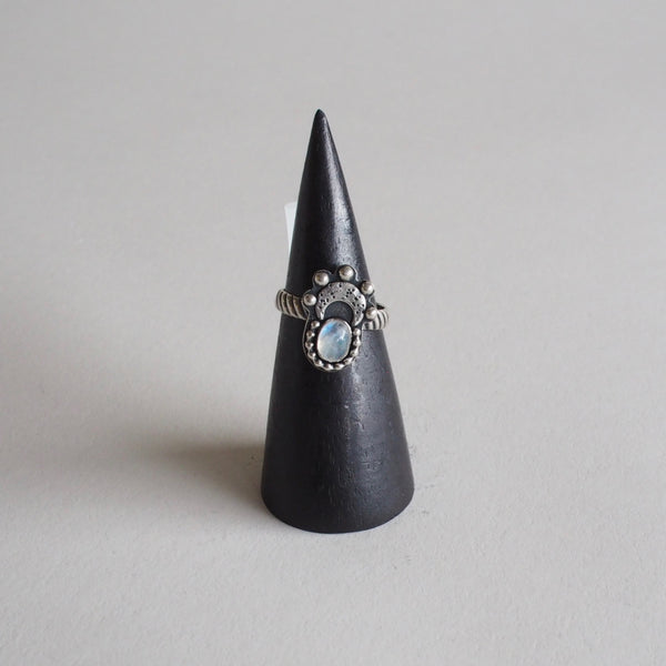 Moonstone and Moon Ring